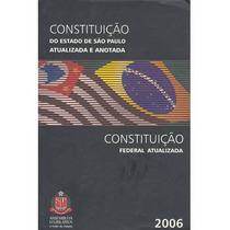 Constituição Do Estado De São Paulo Atualizada E Anotada 200