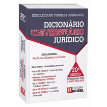 Dicionário Universitário Jurídico Rideel - Edição Atualizada