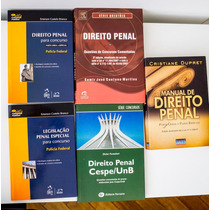 5 Livros Manual De Direito Penal Teoria Questões Concursos