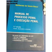 Livro Manual De Processo Penal E Execução Penal Q