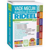Vade Mecum Acadêmico De Direito Rideel 21ª Edição - 2015
