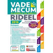 Vade Mecum Academico De Direito Rideel 2016 Promoção!
