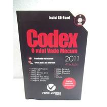 Codex Mini Vade Mecum 2011 Verbo Juridico Cd-rom Bom Estado