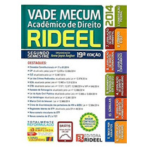 Livro - Vade Mecum Acadêmico De Direito 19ª Ed. 2014