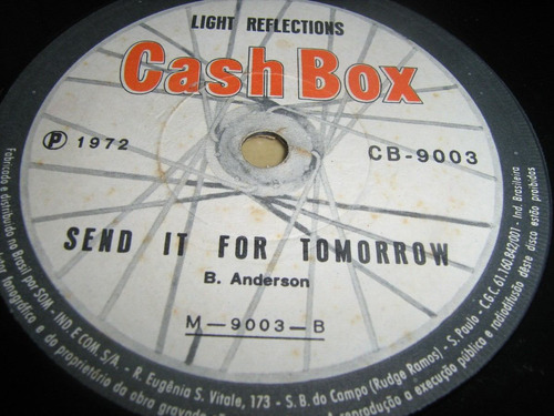 Disco De Vinil Compacto : Light Reflections ( Cash Box) 1972
