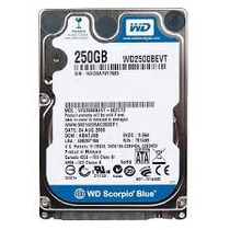 Hd 250gb Notebook Sata Wd Western Digital Com Garantia