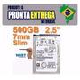 Hd 500gb Slim Semi Novo, Pronta Entrega Testado C/ Garantia