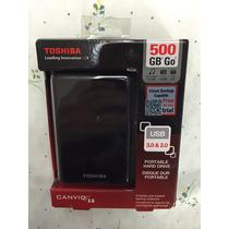 Hard Drive Portátil Canvio 3.0 Toshiba 500 Gb