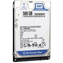 Hd P/ Notebook 500gb Western Digital Sata 5400rpm Wd5000bev
