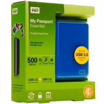 Hd Externo De Bolso 500gb Wd My Passport Essential Usb 3.0