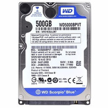 Hd Western Digital Sata 2 500gb 5400 Rpm P/ Notebook