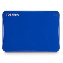Hd Externo Toshiba 500gb Usb3.0 Connect Ii Azul Hdtc805xl3a1