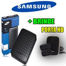 Hd Externo 1tb Samsung M3 Bolso Portátil + Porta Hd Brinde