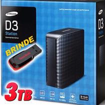 Hd Externo Samsung 3tb D3 Station 3 Tera Usb 3.0 + Brinde!!!