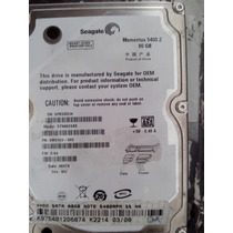 Hd Notebook Sata Seagate 80gb 5400rmp St98823a - Testado