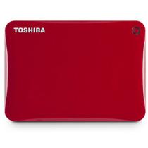 Hd Toshiba Externo 500gb Connect Ii Hdtc805xr3a1 Vermelho