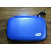 Capa De Proteção Com Ziper Para Hd Externo E Case Wd Azul