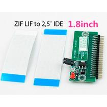 Adaptador Hd Notebook 1.8 Zif Lif P Ide 2.5 De 44 Vias Pinos