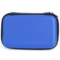 Capa De Proteção Com Ziper Para Hd Externo E Case - Azul