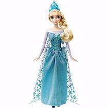 Boneca Frozen Elsa Musical Canta Let It Go Cmk56 - Mattel