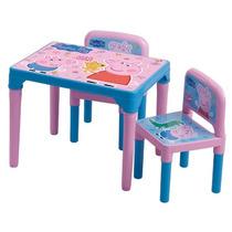 Mesa Mesinha C/ 2 Cadeiras Peppa Pig Multibrink