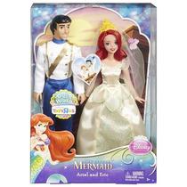 Bonecos Disney Princess Ariel & Prince Eric Wedding