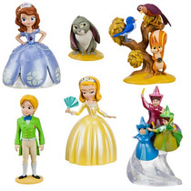 Kit Bonecos Princesa Sofia Miniatura Original Disney Store
