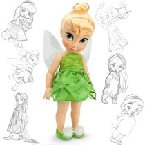 Boneca Disney Original Sininho Animators Tinker Bell 40 Cm