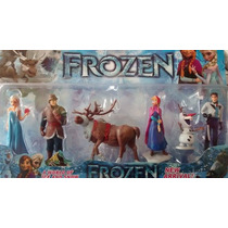 Kit Bonecos Do Filme Frozen 6 Pçs Elsa Anna + Pronta Entrega
