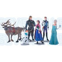 Kit Frozen 6pçs Decoração Festa Bolo - Pronta Entrega