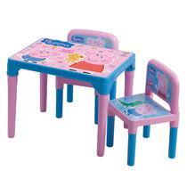 Mesa Mesinha Infantil C/ 2 Cadeiras Peppa Pig Multibrink