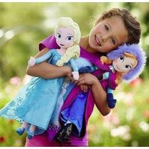 Bonecas Pelúcia Princesa Ana E Rainha Elsa - Frozen Disney