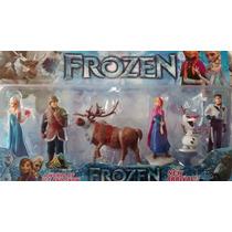 Kit Com 6 Bonecos Frozen * Elsa Anna Olaf Sven Kristoff