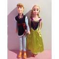 Bonecos Princesa Anna + Principe Kristoff Frozen Disney