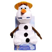 Boneco Olaf Canta E Dança Pelúcia Disney Frozen - Multikids