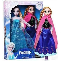 Kit 2 Bonecas Anna Elsa Filme Frozen Disney Pronta Entrega