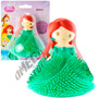 Mini Boneca De Borracha C/ Luz Sereia Ariel Princesas Disney