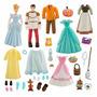 Boneca Cinderella Playset Princesa Fashion Deluxe Príncipe
