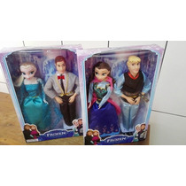 Casal Bonecos Frozen - Anna+kristoff Ou Elsa+hans + Brinde