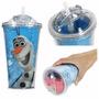 Copo Canudo De Plástico Disney Frozen Olaf