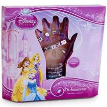 Kit Beleza Menina Princesas Disney Pulseiras E Acessórios