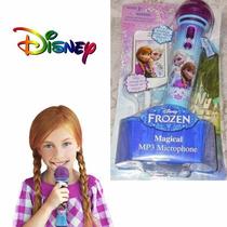 Microfone Mp3 Frozen Ana E Elsa Disney Original