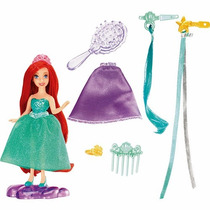 Boneca Princesas Disney - Mini Princesa Cabelos - Ariel