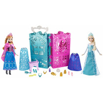 Boneca Anna E Elsa Frozen Disney Royal Closet Mattel
