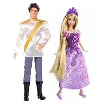 Boneca Rapunzel E Príncipe Flynn Rider Princesas Original