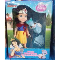 Mini Boneca Princesas Disney Junior Branca De Neve + Brindes