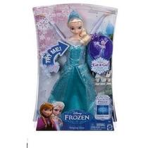 Boneca Elsa Cantora Canta Let It Go Frozen Original Mattel
