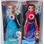 2 Bonecas Do Filme Frozen Disney Musical Elsa E Anna