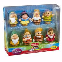 Bonecos Little People Disney - Branca De Neve E Os 7 Anões