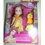 Miniatura Boneca Princesa Disney A Bela E A Fera + Brinde
